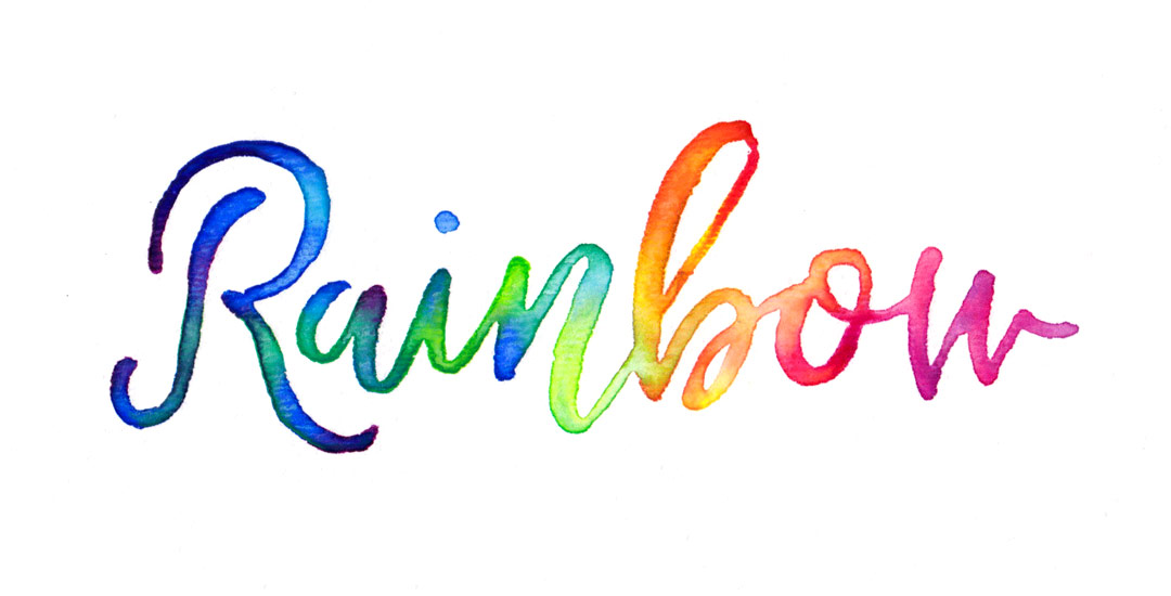 Create 3d Name Wallpaper Online Free Create Colorful Rainbow Brush Lettering Every Tuesday