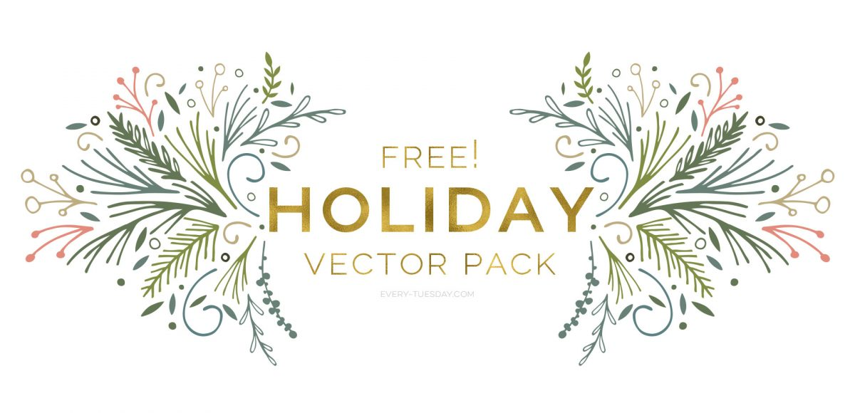 Freebie Holiday Vector Pack Every Tuesday