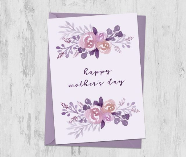 Create A Watercolor Florals Mothers Day Card