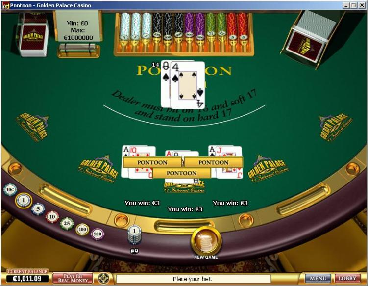 Play Free Pontoon Blackjack Online Or For Real Money At ...