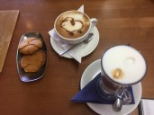 Coffee & homemade ginger biscuits at Kearton Tea Rooms