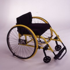 Yellow Wheelchair Best Back Massager For Chair Marilyn Hamilton S Quickie 1983 Everybody An Artifact Disability History America
