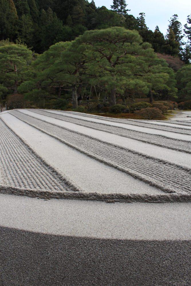 ginkakuji zen garden 667x1000 - A visit to Imperial Palace, Philosopher's Walk, Ginkakuji Temple in Kyoto, Japan