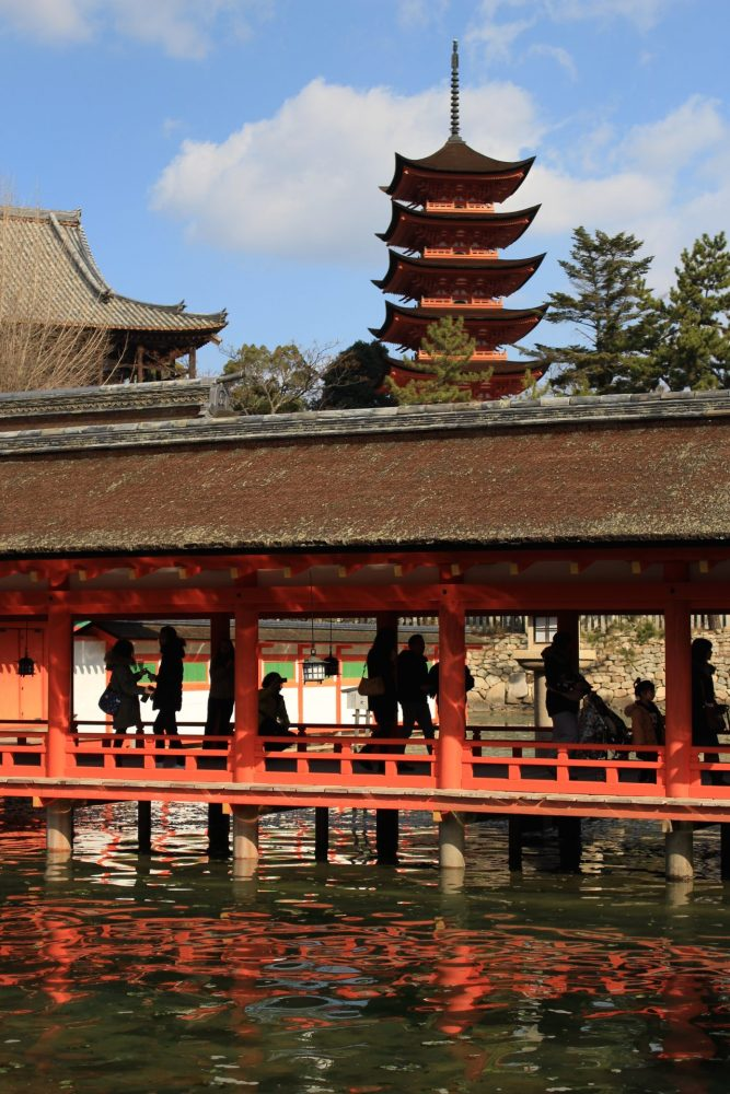 itsukushima shrine miyajima 667x1000 - A day trip to Miyajima from Kyoto, Japan