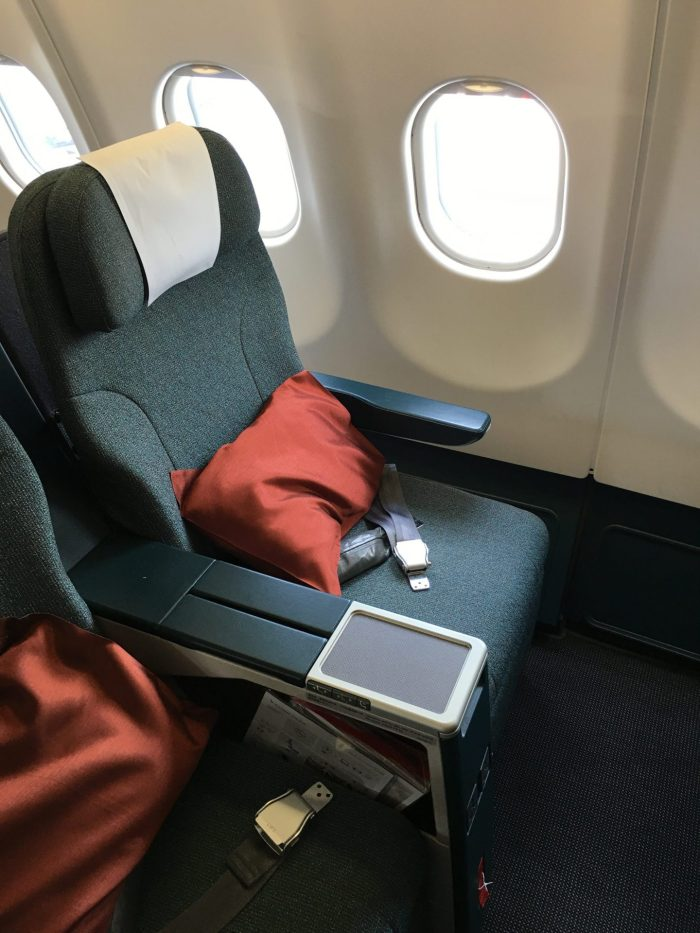 cathay pacific business class airbus a330 300 hong kong to osaka via taipei seat 700x933 - Cathay Pacific Business Class Airbus A330-300 Hong Kong HKG to Osaka KIX via Taipei review