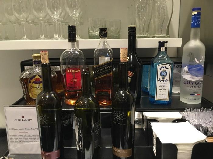 cathay pacific lounge san francisco sfo liquor 700x525 - Cathay Pacific Lounge San Francisco SFO review
