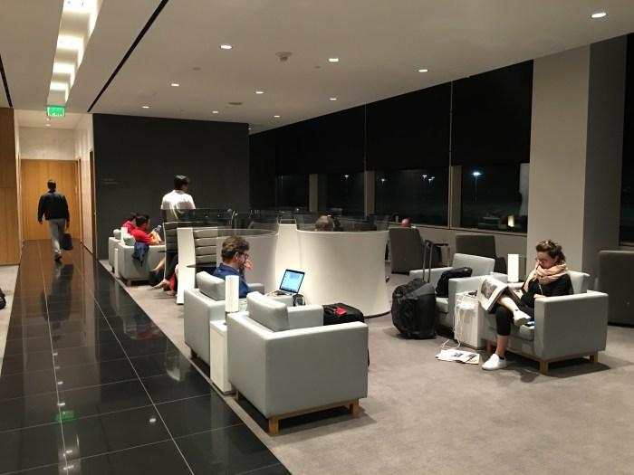 cathay pacific lounge san francisco sfo seating pods 700x525 - Cathay Pacific Lounge San Francisco SFO review