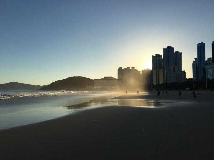 haeundae beach busan 700x525 - A visit to Haeundae & Dongbaek Park in Busan, South Korea