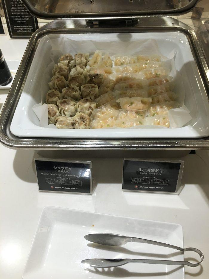 jal first class lounge tokyo haneda dumplings 700x933 - Japan Airlines JAL First Class Lounge Tokyo Haneda HND review