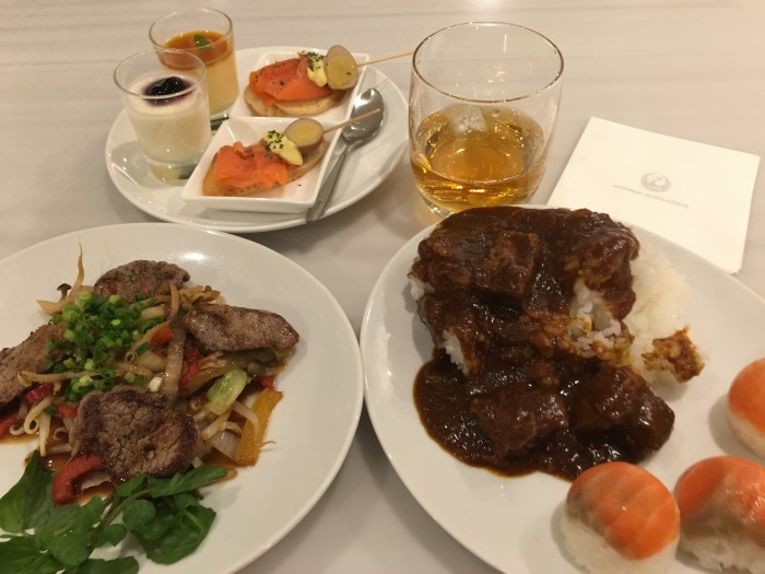 jal first class lounge tokyo haneda food 700x525 - Japan Airlines JAL First Class Lounge Tokyo Haneda HND review