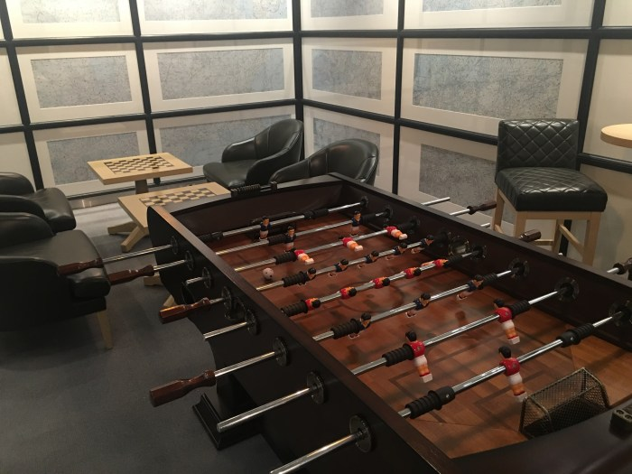 jal first class lounge tokyo haneda game room foosball chess 700x525 - Japan Airlines JAL First Class Lounge Tokyo Haneda HND review