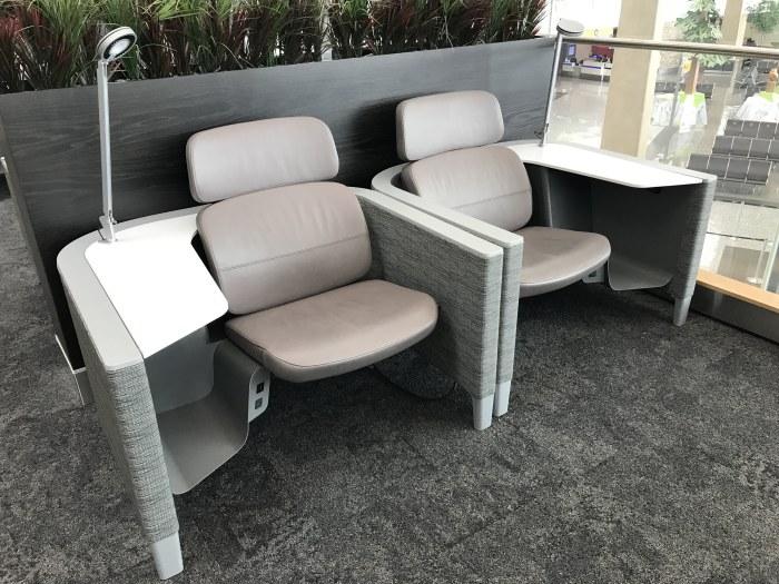 aspire lounge transborder departures calgary airport yyc chairs 700x525 - Aspire Lounge Transborder Departures Calgary Airport YYC review