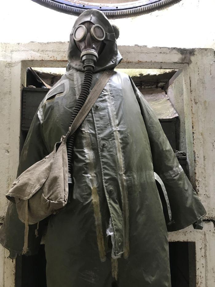 demarcation line museum bunker gas mask 700x933 - A visit to the Demarcation Line Museum in Rokycany, Czech Republic