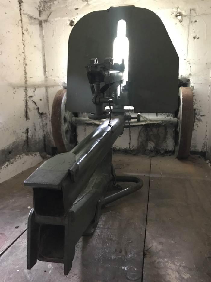 demarcation line museum bunker gun 700x933 - A visit to the Demarcation Line Museum in Rokycany, Czech Republic