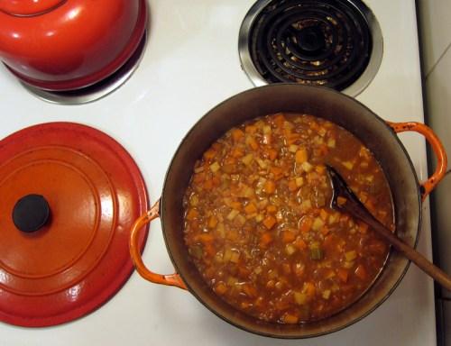 sweet potato autumn soup/stew