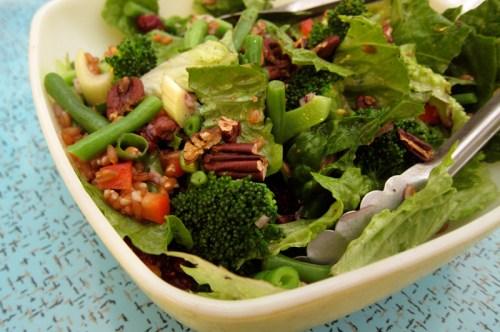 farro & greens salad