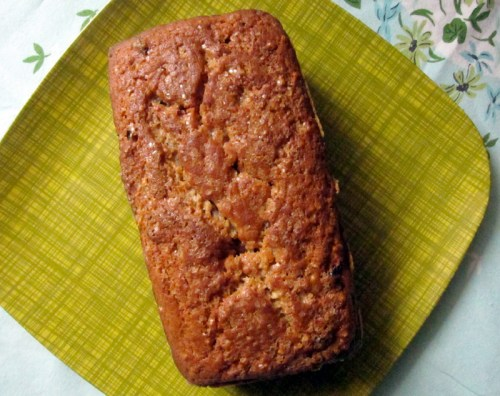 scotch oat cake baked in a loaf pan