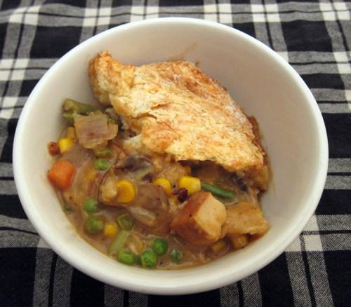 smoked tofu & vegetable pot pie