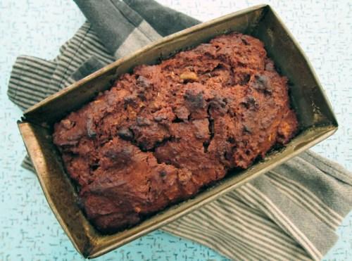 cocoa coconut vegan banana bread