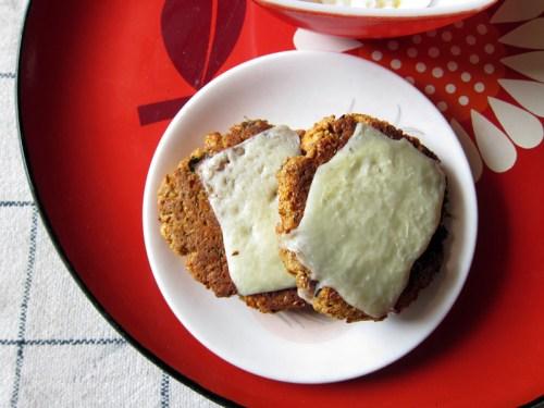 curried red lentil & mushroom burgers