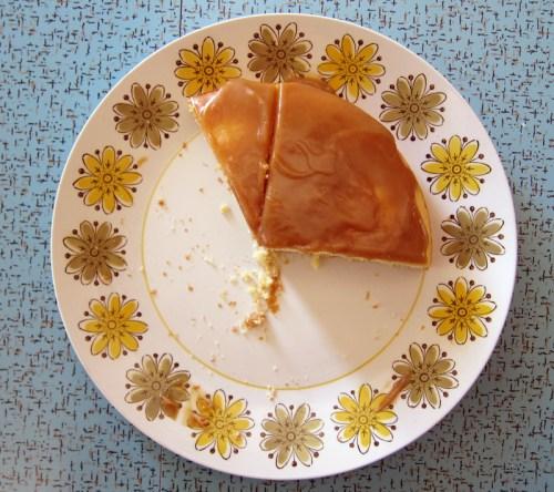 caramel cake platter
