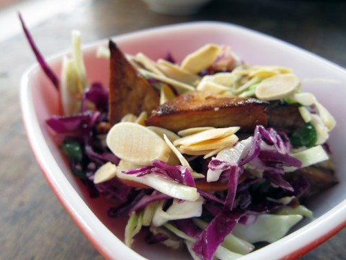 chopped miso slaw with tofu