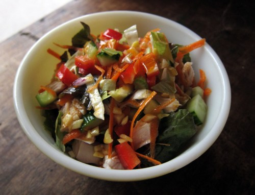 ginger 3-flavour turkey salad | everybody likes sandwiches