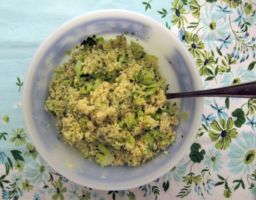 cheesy broccoli millet | everybody likes sandwiches