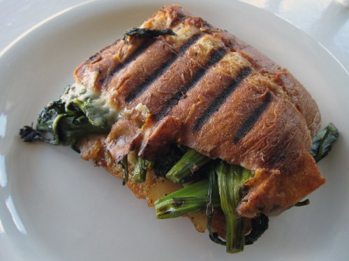 broccoli rabe panini with mozzarella | everybody likes sandwiches
