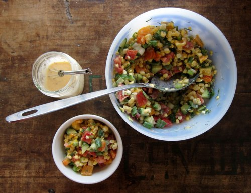 crunchy & creamy late summer salad | everybody likes sandwiches