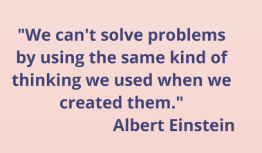 We can't solve problems using same thinking - Aristotle, bethterry.com