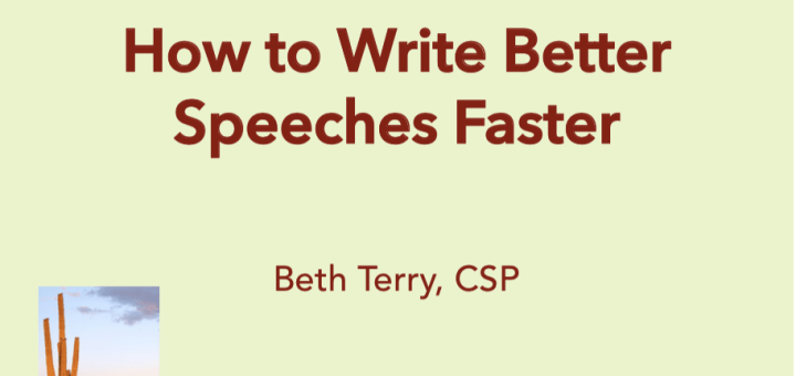 Beth Terry How to Write Better Speeches Faster