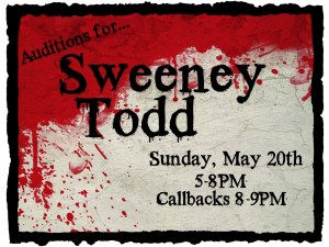 Auditions for Sweeney Todd @ Upper Dublin Township Building  | Fort Washington | Pennsylvania | United States