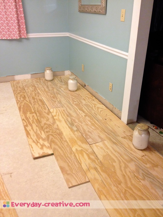 Plywood Plank Flooring An Inexpensive Replacement For