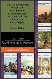 Excellence in Literature curriculum: Reading and Writing through the Classics for grades 8-12