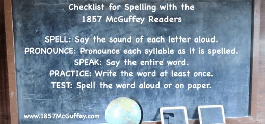 Learn to spell using the 1857 McGuffey Readers