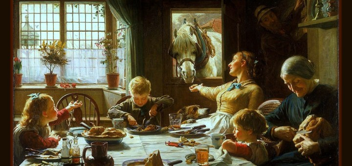 One of the Family by Frederick George Cotman (1850 - 1920) (British) — The painting that inspired Janice Campbell's mission statement.