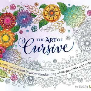 The Art of Cursive helps you practice handwriting while coloring beautiful pictures.