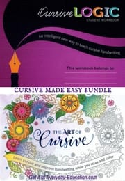 The cursive made easy bundle includes CursiveLogic and The Art of Cursive. Learn and have fun!