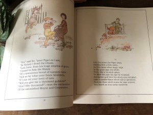 Pages from the Pied Piper of Hamelin by Robert Browning.