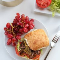 Slow Cooker Shredded Beef and Pepperoncini Sandwiches