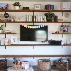 Diy Shelves In Living Room White And Grey House Project Family Everyday Reading There Is 10 Times More Than You Ever Wanted To Know About A Couple Of Our Shelving