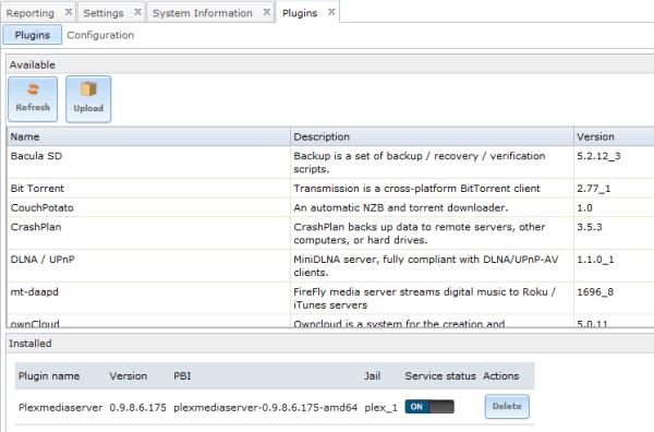 Freenasplexmediaserver Plugin Xbmcin - MVlC
