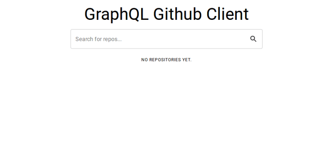 graphql github client screenshot