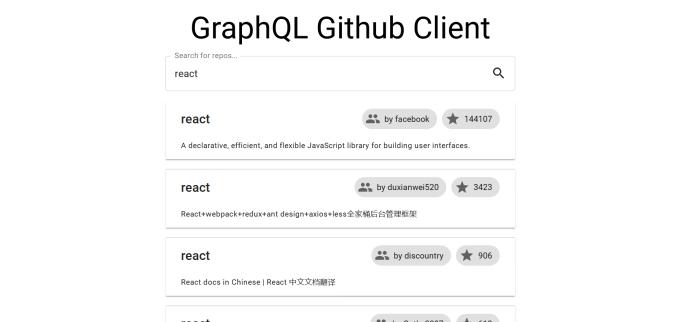 graphql github client tutorial