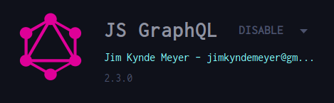 js graphql extension