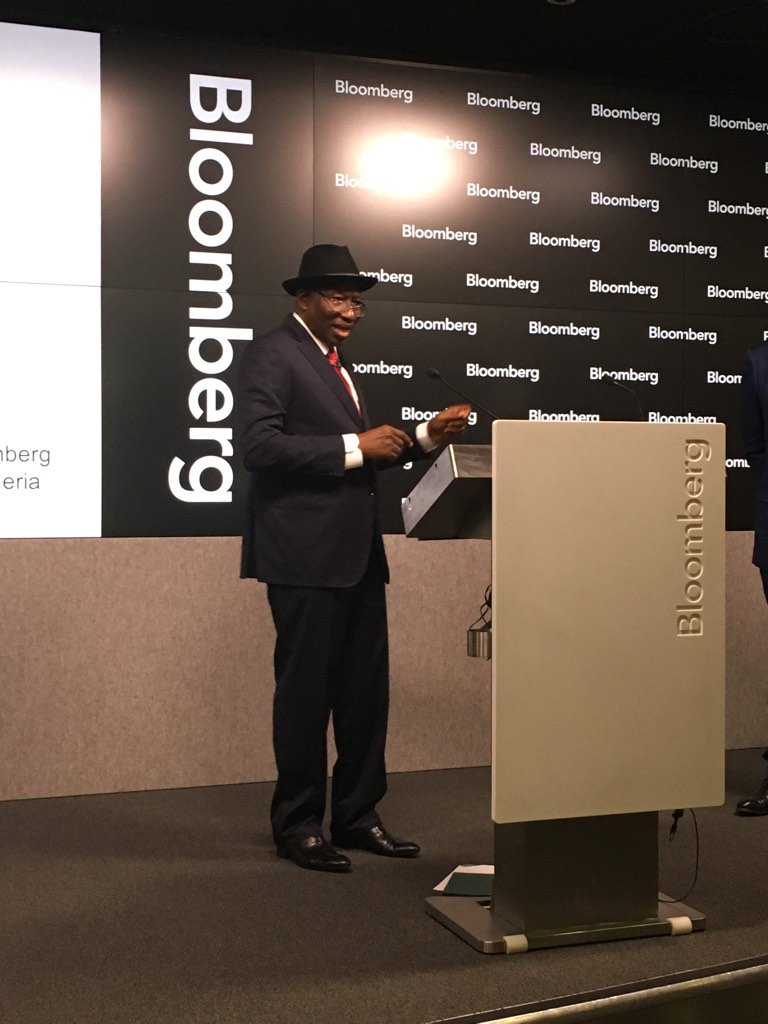 """""""I am a citizen of Nigeria,"""" says Goodluck Jonathan in London"""