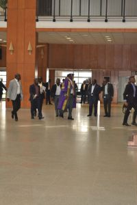 Dino Melaye comes to Senate in academic gown