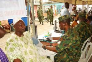 NAF offers free medicals to Bakassi IDPs