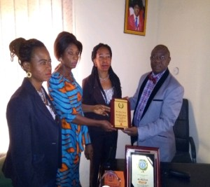 Director of Cleft & Facial Deformity Foundation honoured in Abuja.